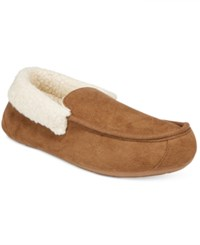 Club Room Men's Slippers Chris Suede Clog Tan
