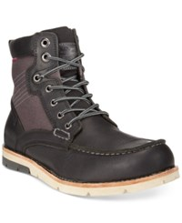 Levi's Dawson Canvas Moc Toe Boots Men's Shoes Black Charcoal