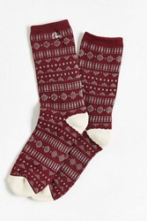 Obey Pitch Sock Maroon