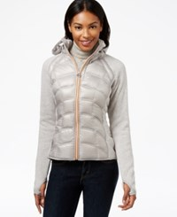 Michael Michael Kors Hooded Sweater Sleeve Puffer Coat