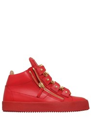 Giuseppe Zanotti 20Mm Chain Laces Leather Sneakers