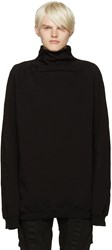 Julius Black Funnel Neck Sweatshirt