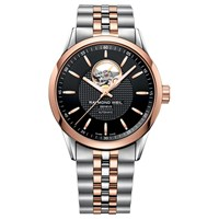 Raymond Weil 2710 Sp520021 Men's Freelancer Two Tone Stainless Steel Bracelet Strap Watch Silver Rose Gold