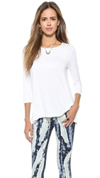 Three Dots 3 4 Sleeve Tee White
