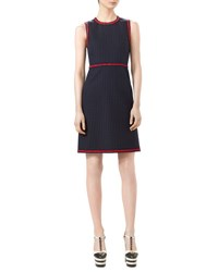 Gucci Polka Dot Sleeveless Dress Ink Red White