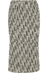 Rochas Wool Blend Tweed Midi Skirt