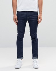 Selected Homme Jeans In Skinny Fit Dark Blue Denim Dark Blue