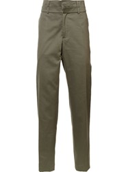 Y Project Double Waisted Trousers Green