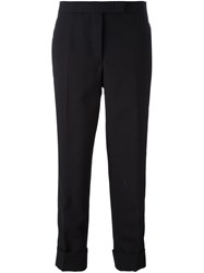 Thom Browne Cropped Tailored Trousers Black