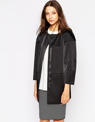 French Connection Summer Stories Collarless Coat Black