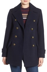 French Connection Women's Wool Blend Peacoat Utility Blue