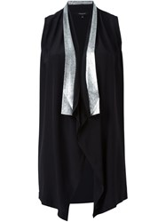 Unconditional Metallic Lapel Waistcoat Black