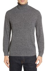 Nordstrom Men's Men's Shop Cashmere Turtleneck Sweater Grey Ebony