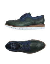 Barracuda Footwear Lace Up Shoes Men Emerald Green