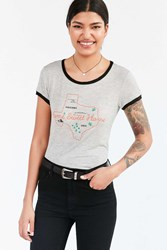 Urban Outfitters Uo Souvenir Home Sweet Austin Ringer Tee Grey