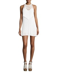 Roberto Cavalli Sleeveless Macrame Halter Dress White