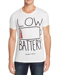 Happiness Low Battery Graphic Tee White