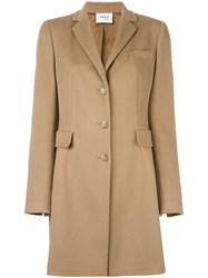 Akris Punto Single Breasted Coat Nude Neutrals