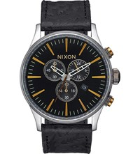 Nixon Sentry Chronograph A405 2222 00 Stainless Steel Watch Black