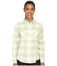 Woolrich Conundrum Long Sleeve Shirt Pistachio Buffalo Women's Long Sleeve Button Up Yellow