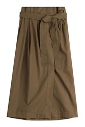 3.1 Phillip Lim Belted Cotton Skirt Green