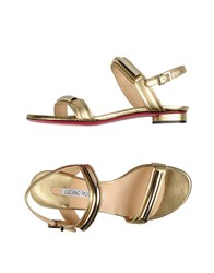 Luciano Padovan Footwear Sandals Women Gold