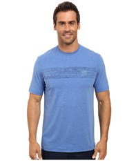 Travis Mathew Harlan Heather Nautical Blue Men's Short Sleeve Knit