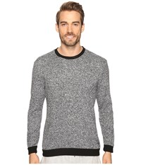 Kenneth Cole Reaction Sleep Crew Long Sleeve Black Marled Men's Pajama