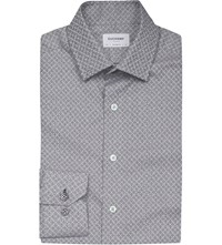 Duchamp Jacquard Cotton Shirt Grey