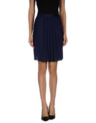 Salvatore Ferragamo Knee Length Skirts Dark Blue