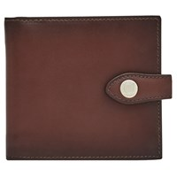 Reiss Birchet Premium Leather Bifold Wallet Oxblood