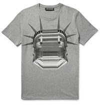 Neil Barrett Printed Cotton Jerey T Hirt Gray
