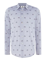 Paul Smith Animal Filcoupe Shirt Sky