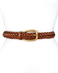 Gucci Square Buckle Braided Belt Brown