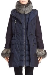 Moncler Women's 'Elestoria' Two Piece Down Puffer Coat With Genuine Fox Fur Trim