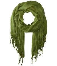 Love Quotes Linen Tassel Scarf Dill Scarves Green