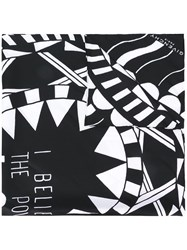 Givenchy Power Of Love Printed Scarf Black