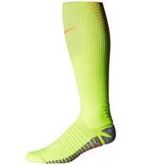 Nike Grip Strike Cushioned Otc Volt Total Orange Total Orange Knee High Socks Shoes Yellow