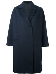 Brunello Cucinelli Egg Shaped Coat Blue