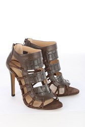 Jane Norman Panelled Ankle Heel Chocolate