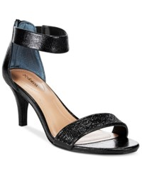 Styleandco. Style And Co. Phillyis Two Piece Evening Sandals Only At Macy's Women's Shoes Black
