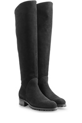 Rupert Sanderson Suede Over The Knee Boots Black