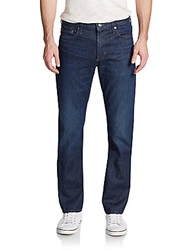 Vince Straight Leg Cotton Denim Jeans Indigo