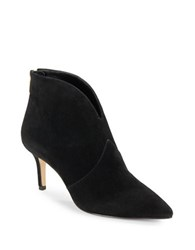 424 Fifth Derren Point Toe Suede Boots Black