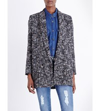 The Kooples Shawl Lapel Tweed Blazer Multicolor