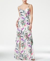 Guess Antoinette Sleeveless Floral Print Maxi Dress Flower Explosion Combo