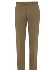 Dunhill Slim Leg Cotton And Cashmere Blend Chino Trousers