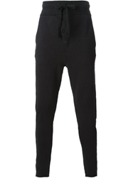 Thom Krom Dropped Crotch Track Pants Black