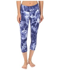 New Balance Premium Performance Capri Print Pants Basin Multi Women's Capri Blue
