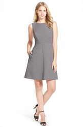 Women's Halogen Sleeveless A Line Dress Heather Dark Grey